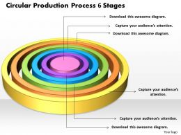 1013 Business Ppt diagram Circular Production Process 6 Stages Powerpoint Template