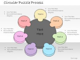1013 Business Ppt Diagram Circular Puzzle Business Framework Powerpoint Template