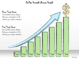 1013 Business Ppt Diagram Dollar Growth Arrow Graph Powerpoint Template