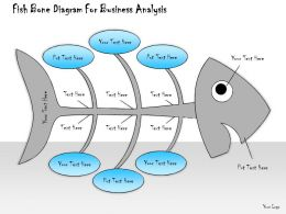 1013 Business Ppt Diagram Fish Bone Diagram For Business Analysis Powerpoint Template