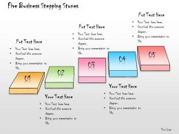1013 Business Ppt Diagram Five Business Stepping Stones Powerpoint Template
