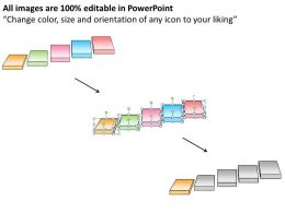1013 Business Ppt Diagram Five Business Stepping Stones Free PowerPoint Templates