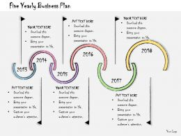 1013 Business Ppt Diagram Five Yearly Business Plan Powerpoint Template