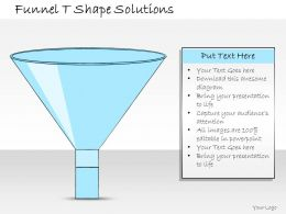 1013 Business Ppt Diagram Funnel T Shape Solutions Powerpoint Template