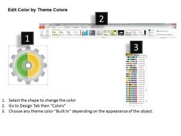 1013 Business Ppt diagram Gear Process 2 Stages Powerpoint Template
