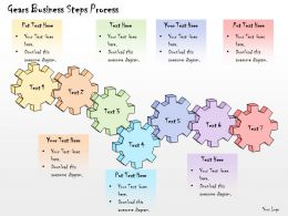 1013 Business Ppt Diagram Gears Business Steps Process Powerpoint Template