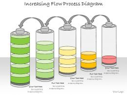 1013 Business Ppt Diagram Increasing Flow Process Diagram Powerpoint Template