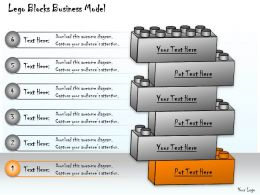 1013 Business Ppt Diagram Lego Blocks Business Model Powerpoint Template