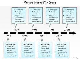 1013 Business Ppt Diagram Monthly Business Plan Layout Powerpoint Template