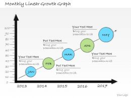 1013 Business Ppt Diagram Monthly Linear Growth Graph Powerpoint Template