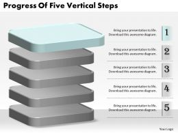 1013 Business Ppt diagram Progress Of Five Vertical Steps Powerpoint Template