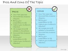 1013 Business Ppt Diagram Pros And Cons Of The Topic Powerpoint Template