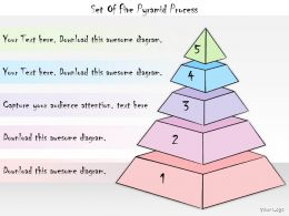 1013 Business Ppt Diagram Set Of Five Pyramid Process Powerpoint Template