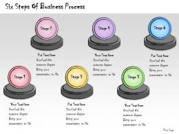 1013 Business Ppt Diagram Six Steps Of Business Process Powerpoint Template
