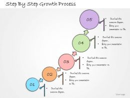 1013 Business Ppt Diagram Step By Step Growth Process Powerpoint Template