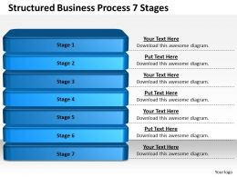 1013 Business Ppt diagram Structured Business Process 7 Stages Powerpoint Template
