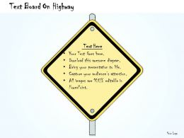 1013_business_ppt_diagram_text_board_on_highway_powerpoint_template_Slide01