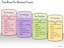 1013 Business Ppt Diagram Text Boxes For Business Process Powerpoint Template