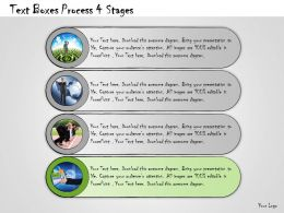 1013 Business Ppt Diagram Text Boxes Process 4 Stages Powerpoint Template