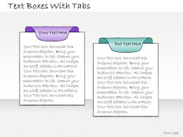 1013_business_ppt_diagram_text_boxes_with_tabs_powerpoint_template_Slide01