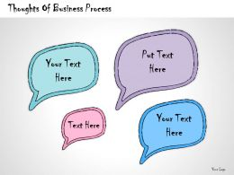 1013 Business Ppt Diagram Thoughts Of Business Process Powerpoint Template
