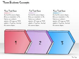 1013 Business Ppt Diagram Three Business Concepts Powerpoint Template