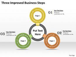 1013 Business Ppt diagram Three Improved Business Steps Powerpoint Template