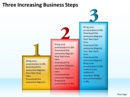 1013 Business Ppt diagram Three Increasing Business Steps Powerpoint Template