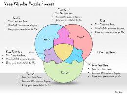 1013 Business Ppt Diagram Venn Circular Puzzle Process Powerpoint Template