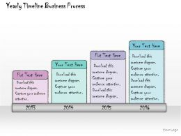 1013 Business Ppt Diagram Yearly Timeline Business Process Powerpoint Template