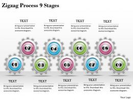1013 Business Ppt diagram Zigzag Process 9 Stages Powerpoint Template