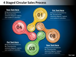 1013 Business Process Consulting 4 Staged Circular Sales Powerpoint Templates PPT Backgrounds For Slides