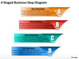 1013 Business Process Consulting 4 Staged Step Diagram Powerpoint Templates PPT Backgrounds For Slides