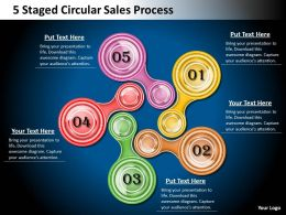 1013 Business Strategy 5 Staged Circular Sales Process Powerpoint Templates PPT Backgrounds For Slides
