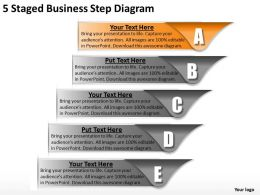 1013 Business Strategy 5 Staged Step Diagram Powerpoint Templates PPT Backgrounds For Slides