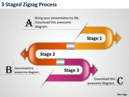 1013 Management Consulting Business 3 Staged Zigzag Process Templates PPT Backgrounds For Slides