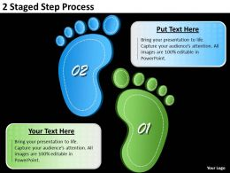 1013 Project Management 2 Staged Step Process Powerpoint Templates PPT Backgrounds For Slides