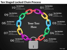 1013 Project Management Consultancy Ten Staged Locked Chain Process Ppt Templates Backgrounds For Slides
