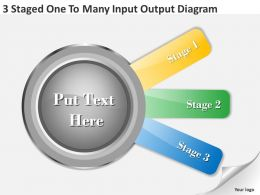1013 Sales Management Consultant 3 Staged One To Many Input Output Diagram Powerpoint Slides