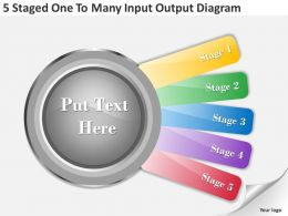 1013 Strategic Management Consulting 5 Staged One To Many Input Output Diagram Powerpoint Templates