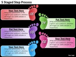 1013 Strategic Management Consulting 5 Staged Step Process Powerpoint Templates PPT Backgrounds For Slides