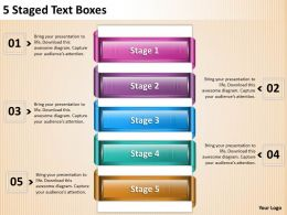 1013 Strategic Management Consulting 5 Staged Text Boxes Powerpoint Templates PPT Backgrounds For Slides