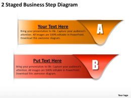 1013 Strategy Consultant 2 Staged Business Step Diagram Powerpoint Templates PPT Backgrounds For Slides