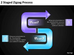 1013 Strategy Consultants 2 Staged Zigzag Process Powerpoint Templates PPT Backgrounds For Slides