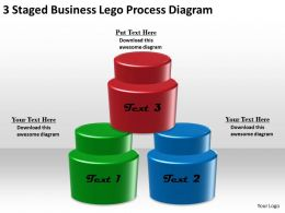 1013 Strategy Consultants 3 Staged Business Lego Process Diagram Powerpoint Templates Backgrounds For Slides
