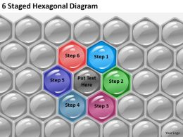 1013 Strategy Consulting Business 6 Staged Hexagonal Diagram Powerpoint Templates Backgrounds For Slides