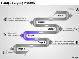 1013 Strategy Consulting Business 6 Staged Zigzag Process Powerpoint Templates PPT Backgrounds For Slides