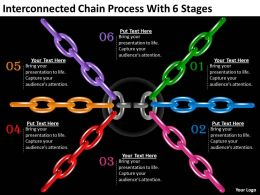 1013 Strategy Consulting Interconnected Chain Process With 6 Stages Powerpoint Templates Backgrounds For Slides