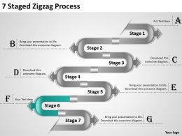 1013 Strategy Management Consultants 7 Staged Zigzag Process Powerpoint Templates PPT Backgrounds For Slides