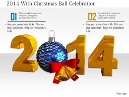 1014 2014 With Christmas Ball Celebration Image Graphics For PowerPoint